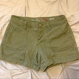 Faded Glory army green cargo shorts
